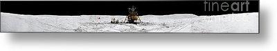 Apollo 16 Landing Site In The Lunar Metal Print by Stocktrek Images