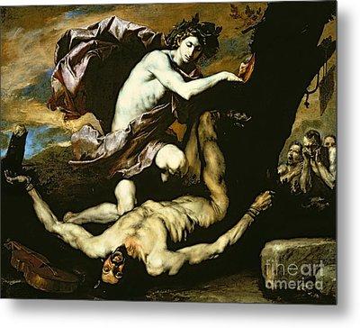 Apollo And Marsyas Metal Print by Jusepe de Ribera