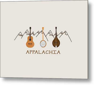 Metal Print featuring the digital art Appalachia Mountain Music by Heather Applegate