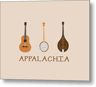 Metal Print featuring the digital art Appalachia Music by Heather Applegate