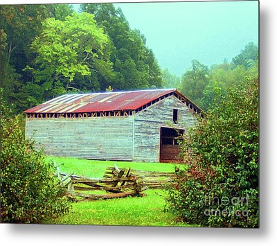 Appalachian Livestock Barn Metal Print by Desiree Paquette