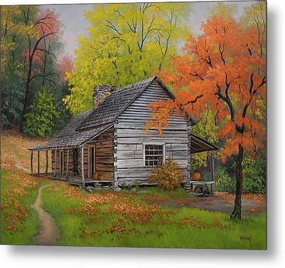Appalachian Retreat-autumn Metal Print