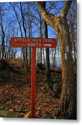 Appalachian Trail In Maryland Sign Metal Print by Raymond Salani III