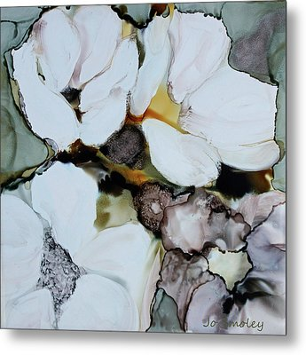 Metal Print featuring the painting Apple Blossoms by Joanne Smoley