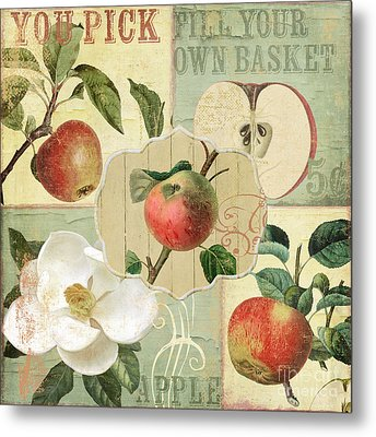 Apple Blossoms Patchwork IIi Metal Print by Mindy Sommers