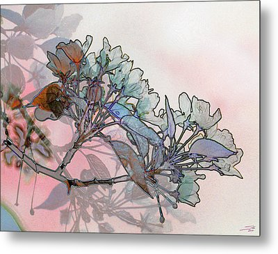 Metal Print featuring the digital art Apple Blossoms by Stuart Turnbull