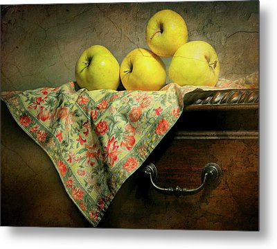 Metal Print featuring the photograph Apple Cloth by Diana Angstadt