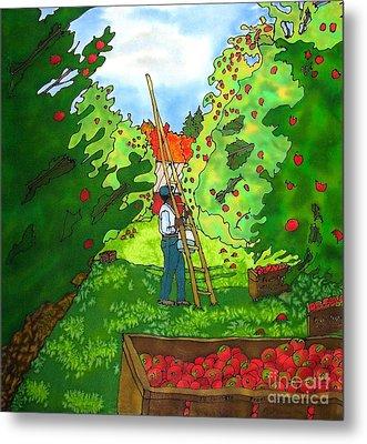 Apple Harvest Metal Print by Linda Marcille
