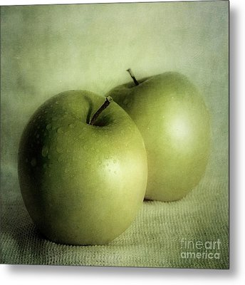 Apple Painting Metal Print by Priska Wettstein