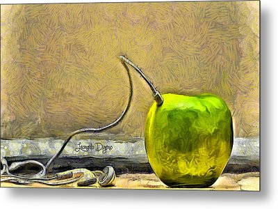 Apple Phone Metal Print by Leonardo Digenio