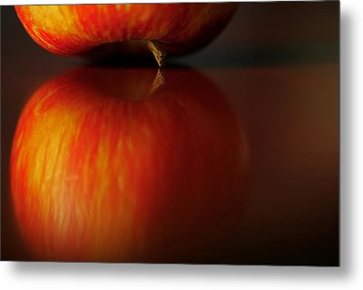Apple Reflection Metal Print