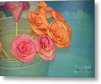 Metal Print featuring the photograph Apple Roses by Traci Cottingham