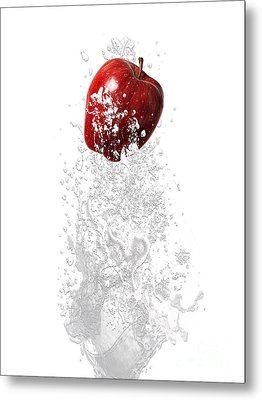 Apple Splash Metal Print
