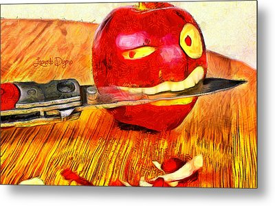 Apple Strikes Back Metal Print by Leonardo Digenio