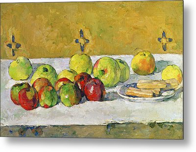 Apples And Biscuits Metal Print