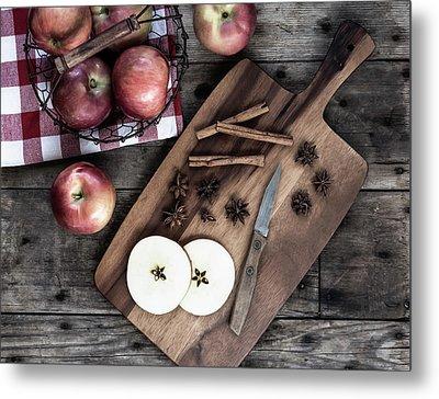 Metal Print featuring the photograph Apples And Cinnamon  by Kim Hojnacki