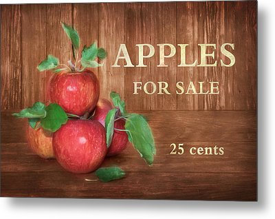 Apples For Sale Metal Print by Lori Deiter