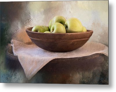 Metal Print featuring the photograph Apples by Robin-Lee Vieira