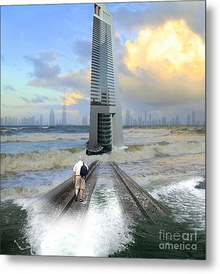 Approach To Dubai Metal Print by Ayesha DeLorenzo