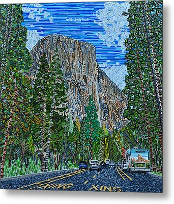 Approaching El Capitan Yosemite National Park Metal Print by Micah Mullen