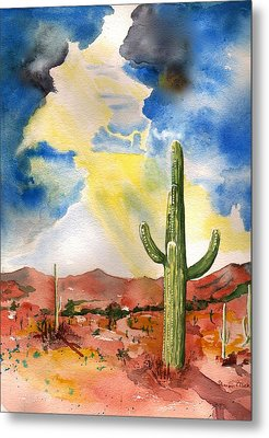 Approaching Monsoon Metal Print by Sharon Mick