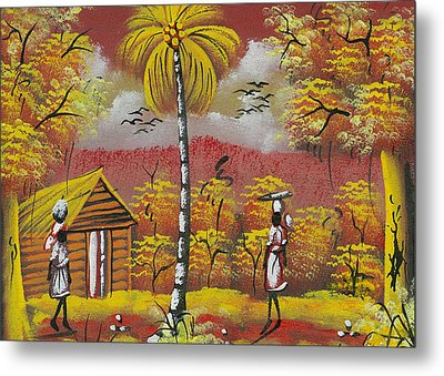 Approaching On The Path Metal Print by Herold Alvares