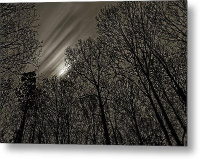 Approaching Storm, Black And White Metal Print