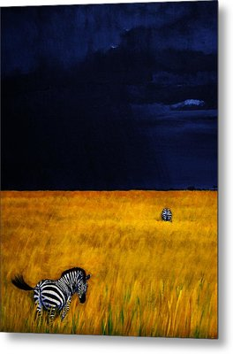 Approaching Storm Metal Print by Edith Peterson-Watson