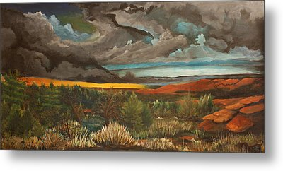 Approaching Storm Metal Print by Shannon Rains