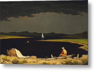 Approaching Thunderstorm Metal Print by Martin Heade