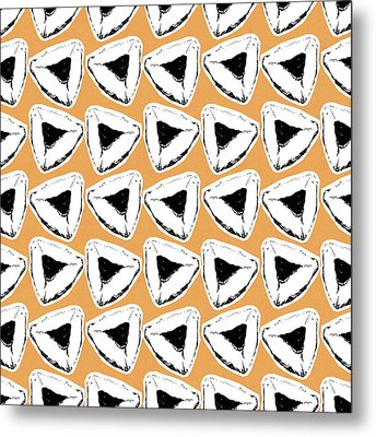 Metal Print featuring the mixed media Apricot Hamentashen- Art By Linda Woods by Linda Woods