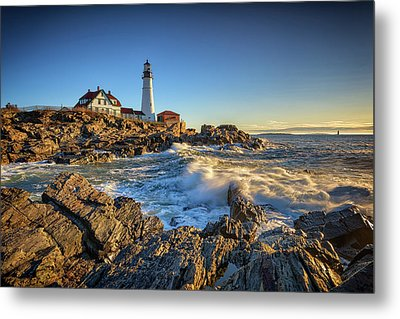 Metal Print featuring the photograph April Morning At Portland Head by Rick Berk