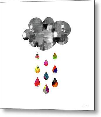 April Showers- Art By Linda Woods Metal Print by Linda Woods