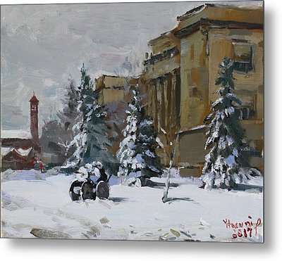 April Snow By The Nacc Metal Print by Ylli Haruni