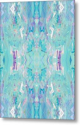 Aqua Metal Print by Beth Travers