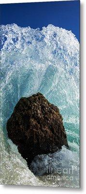 Aqua Dome - Triptych  Part 2 Of 3 Metal Print by Sean Davey