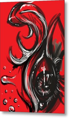 Aqua Emotion Metal Print by Natalie Gillham