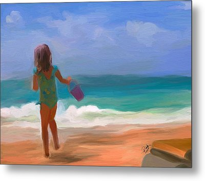 Aqua Seas Metal Print by Patti Siehien