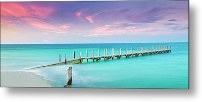 Aqua Waters  Metal Print by Az Jackson