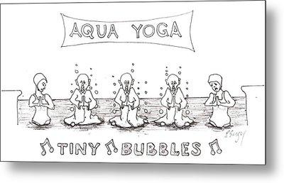 Aqua Yoga Metal Print