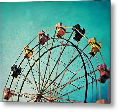 Aquamarine Dream - Ferris Wheel Art Metal Print by Melanie Alexandra Price