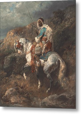 Arab Horseman Metal Print by Adolf Schreyer