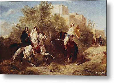 Arab Horsemen Metal Print by Eugene Fromentin