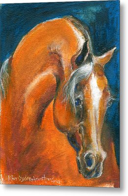 Metal Print featuring the painting Arabian 1 by Mary Armstrong