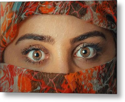 Arabian Beauty Metal Print by Vincent Monozlay