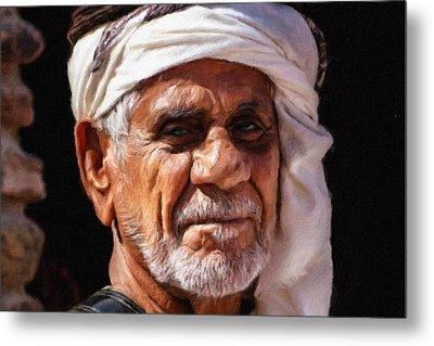 Arabian Old Man Metal Print by Vincent Monozlay