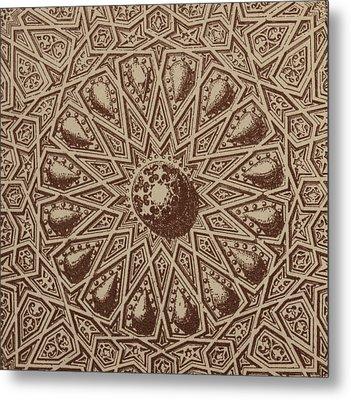 Arabian Textile Pattern Metal Print