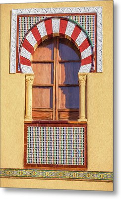 Arabic Window Of Spain Metal Print