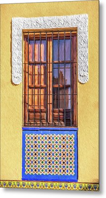 Arabic Window Of Spain II Metal Print