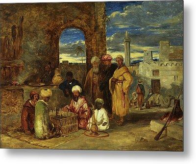 Arabs Playing Chess, 1843 Metal Print